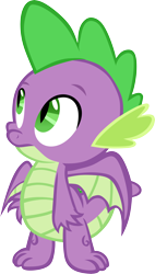 Size: 3410x6001 | Tagged: safe, artist:memnoch, spike, dragon, between dark and dawn, spoiler:s09e13, claws, looking up, male, simple background, solo, transparent background, vector, winged spike