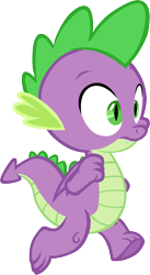 Size: 3185x5828 | Tagged: safe, artist:memnoch, spike, dragon, the point of no return, spoiler:s09e05, claws, male, simple background, solo, tail, transparent background, vector, winged spike
