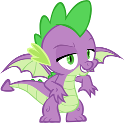 Size: 6081x6001 | Tagged: safe, artist:memnoch, spike, dragon, sparkle's seven, simple background, solo, transparent background, vector