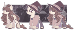 Size: 7499x3072   Tagged: safe, artist:chococolte, pony, unicorn, absurd resolution, bald, clothes, female, hat, mare, simple background, solo, transparent background, witch hat