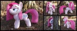 Size: 4320x1754 | Tagged: safe, artist:peruserofpieces, pinkie pie, earth pony, pony, female, irl, mare, photo, pinkamena diane pie, plushie, solo, tree