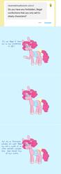 Size: 757x2158 | Tagged: safe, artist:ask-pinkie-polkadot-pie, pinkie pie, pony, alternate hairstyle, ask-pinkie-polkadot-pie, bag, saddle bag, solo