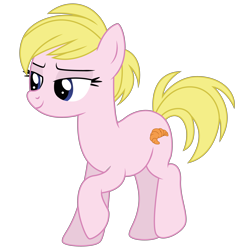 Size: 4000x4000 | Tagged: safe, artist:dragonchaser123, oc, oc only, oc:bianca, pony, absurd resolution, female, lidded eyes, mare, raised hoof, recolor, simple background, transparent background, vector