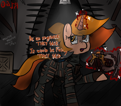 Size: 4000x3500 | Tagged: safe, artist:mjsw, oc, oc:majuvelliy, pony, unicorn, crossover, dead space, magic, monologue, scared, solo