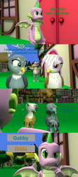 Size: 1920x4320 | Tagged: safe, artist:papadragon69, gabby, gilda, spike, dragon, comic:spike's cyosa, 3d, choice, choose your own adventure, comic, female, male, older, older spike, source filmmaker, teenage spike, teenager, winged spike