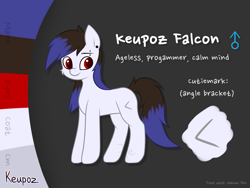 Size: 2048x1536 | Tagged: safe, artist:keupoz, oc, oc only, oc:keupoz, earth pony, male, piercing, reference sheet, simple background, text