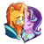 Size: 900x900 | Tagged: safe, artist:asilingrose, starlight glimmer, sunburst, pony, unicorn, the last problem, spoiler:s09e26, beard, clothes, eyebrows, eyes closed, facial hair, female, male, mare, nuzzling, older, older starlight glimmer, older sunburst, shipping, simple background, smiling, stallion, starburst, straight, suit, sunburst the bearded, transparent background