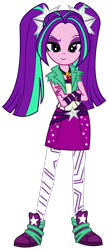 Size: 1500x3474 | Tagged: safe, artist:sketchmcreations, aria blaze, equestria girls, clothes, commission, crossed arms, female, leggings, looking at you, shoes, simple background, skirt, smiling, sneakers, transparent background, vector