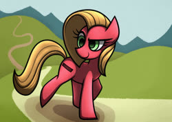 Size: 1280x905 | Tagged: safe, artist:rambopvp, oc, oc:pun, earth pony, pony, ask pun, ask, female, mare, solo