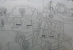 Size: 3019x2099 | Tagged: safe, artist:徐詩珮, fizzlepop berrytwist, glitter drops, spring rain, tempest shadow, twilight sparkle, alicorn, unicorn, series:sprglitemplight diary, series:sprglitemplight life jacket days, series:springshadowdrops diary, series:springshadowdrops life jacket days, alternate universe, bisexual, broken horn, chase (paw patrol), clothes, cute, female, glitterbetes, glitterlight, glittershadow, horn, lesbian, lifeguard, lifeguard spring rain, marshall (paw patrol), nap, paw patrol, polyamory, shipping, skye (paw patrol), sleeping, sprglitemplight, springbetes, springdrops, springlight, springshadow, springshadowdrops, tempestbetes, tempestlight, twilight sparkle (alicorn), zuma (paw patrol)