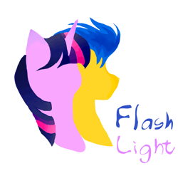 Size: 1024x1024 | Tagged: safe, flash sentry, twilight sparkle, pony, female, flashlight, male, shipping, straight