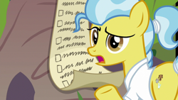 Size: 1920x1080 | Tagged: safe, screencap, doctor fauna, earth pony, pony, she talks to angel, checklist, female, mare, solo