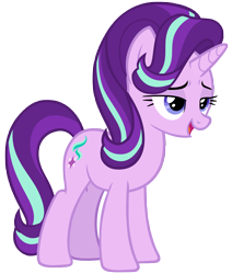 Size: 6804x8021 | Tagged: safe, artist:andoanimalia, starlight glimmer, pony, unicorn, a horse shoe-in, spoiler:s09e20, absurd resolution, cutie mark, female, mare, open mouth, simple background, solo, transparent background, vector