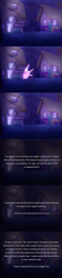 Size: 800x3600 | Tagged: safe, artist:vavacung, series:an unexpected love life of little changeling, comic, night, ponyville, teleportation