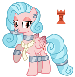Size: 1280x1322   Tagged: safe, artist:thatonecrazyartist18, cozy glow, pegasus, clothes, collar, cuffs, ear piercing, earring, implied cozirek, jewelry, nose piercing, nose ring, older, older cozy glow, piercing, scarf, show accurate, simple background, solo, tailcuff, transparent background