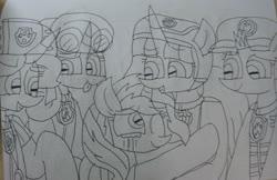 Size: 3066x1985 | Tagged: safe, artist:徐詩珮, fizzlepop berrytwist, glitter drops, spring rain, sunset shimmer, tempest shadow, twilight sparkle, alicorn, unicorn, series:sprglitemplight diary, series:sprglitemplight life jacket days, series:springshadowdrops diary, series:springshadowdrops life jacket days, aid marshall (paw patrol), alternate universe, bisexual, broken horn, chase (paw patrol), clothes, cute, female, glitterbetes, glitterlight, glittershadow, glittershimmer, horn, lesbian, lifeguard, lifeguard spring rain, lifejacket, marshall (paw patrol), paw patrol, polyamory, shipping, skye (paw patrol), sprglitemplight, sprglitemplightshimmer, springbetes, springdrops, springlight, springshadow, springshadowdrops, springshimmer, spy chase (paw patrol), sunsetsparkle, tempestbetes, tempestlight, tempestlightshimmer, tempestshimmer, twilight sparkle (alicorn), zuma (paw patrol)