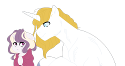 Size: 1218x644 | Tagged: safe, artist:rosebuddity, prince blueblood, oc, oc:athena (rosebuddity), pony, unicorn, female, filly, offspring, parent:prince blueblood, parent:twilight sparkle, parents:twiblood, simple background, transparent background