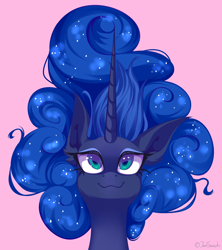 Size: 4000x4497 | Tagged: safe, artist:jun1313, princess luna, pony, cute, digital art, female, lunabetes, mare, simple background, smiling, solo