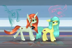 Size: 1280x854 | Tagged: safe, artist:moskowizki, crackle cosette, ocellus, queen chrysalis, changeling, earth pony, camera, disguise, disguised changeling, female, pony ocellus