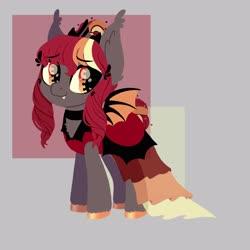 Size: 3500x3500 | Tagged: safe, artist:fannytastical, oc, oc:corona chan, oc:porona, bat pony, bat pony oc, bat wings, coronavirus, covid-19, povid-19, wings