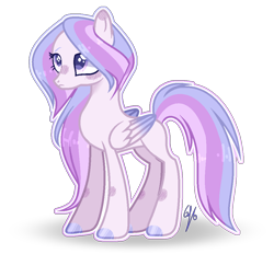 Size: 1014x940 | Tagged: safe, artist:6-fingers-lover, oc, oc only, oc:kiki armour, pegasus, pony, female, mare, offspring, parent:princess cadance, parent:shining armor, parents:shiningcadance, simple background, solo, transparent background, white outline