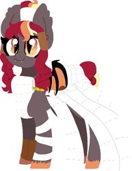Size: 989x1282 | Tagged: safe, artist:nootaz, oc, oc:corona chan, oc:porona, bat pony, bat pony oc, bat wings, coronavirus, covid-19, povid-19, simple background, toilet paper, transparent background, wings