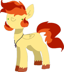 Size: 476x537   Tagged: safe, artist:nootaz, oc, oc only, oc:maple syrup, pegasus, cute, dot eyes, jewelry, male, necklace, pegasus oc, simple background, stallion, transparent background, unshorn fetlocks, wings