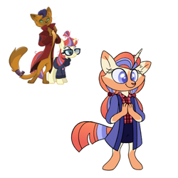 Size: 1000x1000 | Tagged: safe, artist:carouselunique, capper dapperpaws, moondancer, oc, oc:cresent clementine, abyssinian, anthro, digitigrade anthro, hybrid, pony, unguligrade anthro, unicorn, abyssinian hybrid, crack ship offspring, crack shipping, female, interspecies offspring, male, mare, offspring, parent:capper, parent:moondancer, parents:capperdancer, shipping, simple background, straight, white background