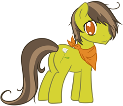 Size: 1136x977 | Tagged: safe, artist:homumu, oc, oc only, earth pony, pony, earth pony oc, hair over one eye, male, neckerchief, simple background, smiling, solo, stallion, white background
