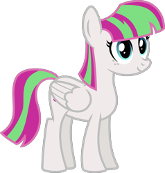 Size: 4000x4193 | Tagged: safe, alternate version, artist:melisareb, blossomforth, pegasus, pony, .svg available, absurd resolution, adoraforth, background pony, cute, female, freckles, gameloft, inkscape, mare, recolor, simple background, transparent background, vector
