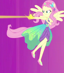 Size: 680x773 | Tagged: safe, screencap, fluttershy, cheer you on, equestria girls, spoiler:eqg series (season 2), cropped, ponied up, sleeveless, solo