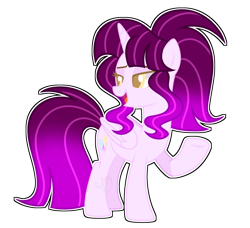 Size: 3032x2766 | Tagged: safe, artist:lazuli, artist:rainbow-drawz, oc, oc only, oc:stella fizzlepop, alicorn, pony, base used, female, magical lesbian spawn, mare, offspring, parent:tempest shadow, parent:twilight sparkle, parents:tempestlight, simple background, solo, transparent background