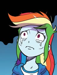 Size: 647x853 | Tagged: safe, artist:pencils, idw, rainbow dash, equestria girls, spoiler:comic, spoiler:comicequestriagirlsmarchradness, cropped, crying