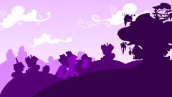 Size: 3265x1837 | Tagged: safe, artist:philiptomkins, twilight sparkle, pony, unicorn, cloud, female, golden oaks library, hooves, horn, library, lineless, mare, minimalist, modern art, silhouette, solo, unicorn twilight, wallpaper