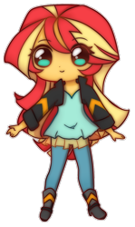 Size: 676x1135 | Tagged: safe, artist:pantypon, sunset shimmer, equestria girls, cute, female, shimmerbetes, simple background, solo, transparent background