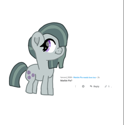Size: 1080x1084 | Tagged: safe, artist:chespinfan, marble pie, earth pony, pony, female, mare, requested art, simple background, smiling, solo, white background