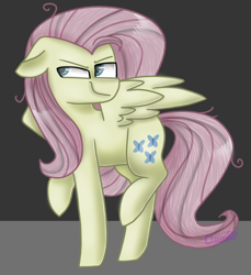 Size: 726x794 | Tagged: safe, artist:clairedaartiste444, mean fluttershy, pegasus, pony, the mean 6, clone, solo