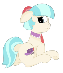 Size: 1750x2000 | Tagged: safe, artist:inky scroll, coco pommel, pony, female, mare, simple background, sitting, transparent background