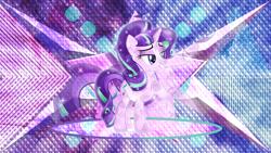 Size: 3840x2160 | Tagged: safe, artist:laszlvfx, artist:theshadowstone, edit, starlight glimmer, crystal pony, pony, unicorn, crystallized, female, mare, solo, wallpaper, wallpaper edit