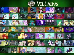 Size: 2732x2048 | Tagged: safe, ahuizotl, aria blaze, basil, chancellor neighsay, chimera sisters, cozy glow, daybreaker, diamond tiara, discord, doctor caballeron, flam, flim, fluttershy, garble, gilda, gladmane, gloriosa daisy, grubber, iron will, juniper montage, king sombra, lightning dust, lord tirek, mane-iac, mean applejack, mean fluttershy, mean pinkie pie, mean rainbow dash, mean rarity, mean twilight sparkle, nightmare moon, pharynx, pony of shadows, prince blueblood, principal abacus cinch, queen chrysalis, silver spoon, sludge (dragon), sonata dusk, spike, starlight glimmer, storm king, sunset shimmer, suri polomare, svengallop, tantabus, tempest shadow, trixie, twilight sparkle, vignette valencia, wallflower blush, wind rider, alicorn, bat pony, centaur, changeling, changeling queen, chimera, cockatrice, demon, diamond dog, draconequus, dragon, earth pony, griffon, hedgehog, minotaur, parasprite, pegasus, pony, unicorn, windigo, yeti, equestria girls, my little pony: the movie, the mean 6, alicorn amulet, antagonist, bat ponified, clone, female, flim flam brothers, flutterbat, green dragon, midnight sparkle, multiple heads, race swap, red dragon, shadowbolts, spikezilla, sunset satan, three heads