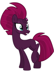 Size: 5883x7786 | Tagged: safe, artist:ejlightning007arts, tempest shadow, unicorn, base used, broken horn, eye scar, horn, mohawk, open mouth, raised leg, scar, simple background, transparent background, vector, wide eyes
