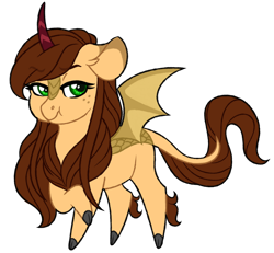 Size: 1024x946 | Tagged: safe, artist:azure-art-wave, oc, oc:fire petal, kirin, bat wings, chibi, female, simple background, solo, transparent background, wings