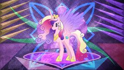 Size: 3840x2160 | Tagged: safe, artist:digimonlover101, artist:laszlvfx, edit, princess cadance, alicorn, pony, female, high res, mare, older, solo, ultimate cadance, wallpaper, wallpaper edit