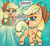 Size: 2350x2160 | Tagged: safe, artist:spookitty, applejack, earth pony, my little pony: pony life, animated, gif, hat, innuendo, looking at you, smiling, solo