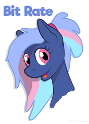 Size: 481x670 | Tagged: safe, derpibooru exclusive, oc, oc:bit rate, female, mare, mascot, ponyfest, simple background, solo, white background