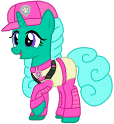 Size: 952x1035 | Tagged: safe, artist:徐詩珮, glitter drops, series:sprglitemplight diary, series:sprglitemplight life jacket days, series:springshadowdrops diary, series:springshadowdrops life jacket days, alternate universe, base used, clothes, female, paw patrol, simple background, skye (paw patrol), transparent background, ultimate rescue