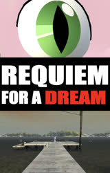 Size: 636x996   Tagged: safe, artist:undeadponysoldier, rarity, spike, dragon, pony, unicorn, 3d, boat, boat dock, deck, dinghy, dock, female, gmod, lake, male, mare, movie, requiem for a dream, text, title card, water