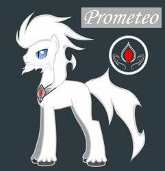 Size: 1233x1280 | Tagged: safe, artist:somashield, oc, oc only, oc:prometeo, earth pony, pony, beard, collar, cutie mark, digital art, facial hair, male, solo, stallion, tail