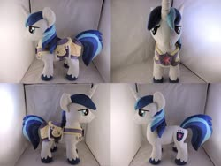 Size: 1597x1199 | Tagged: safe, artist:little-broy-peep, shining armor, pony, armor, irl, photo, plushie, solo