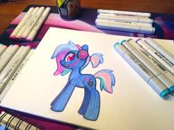 Size: 2048x1536 | Tagged: safe, artist:dawnfire, oc, oc only, oc:bit rate, earth pony, pony, ponyfest, solo